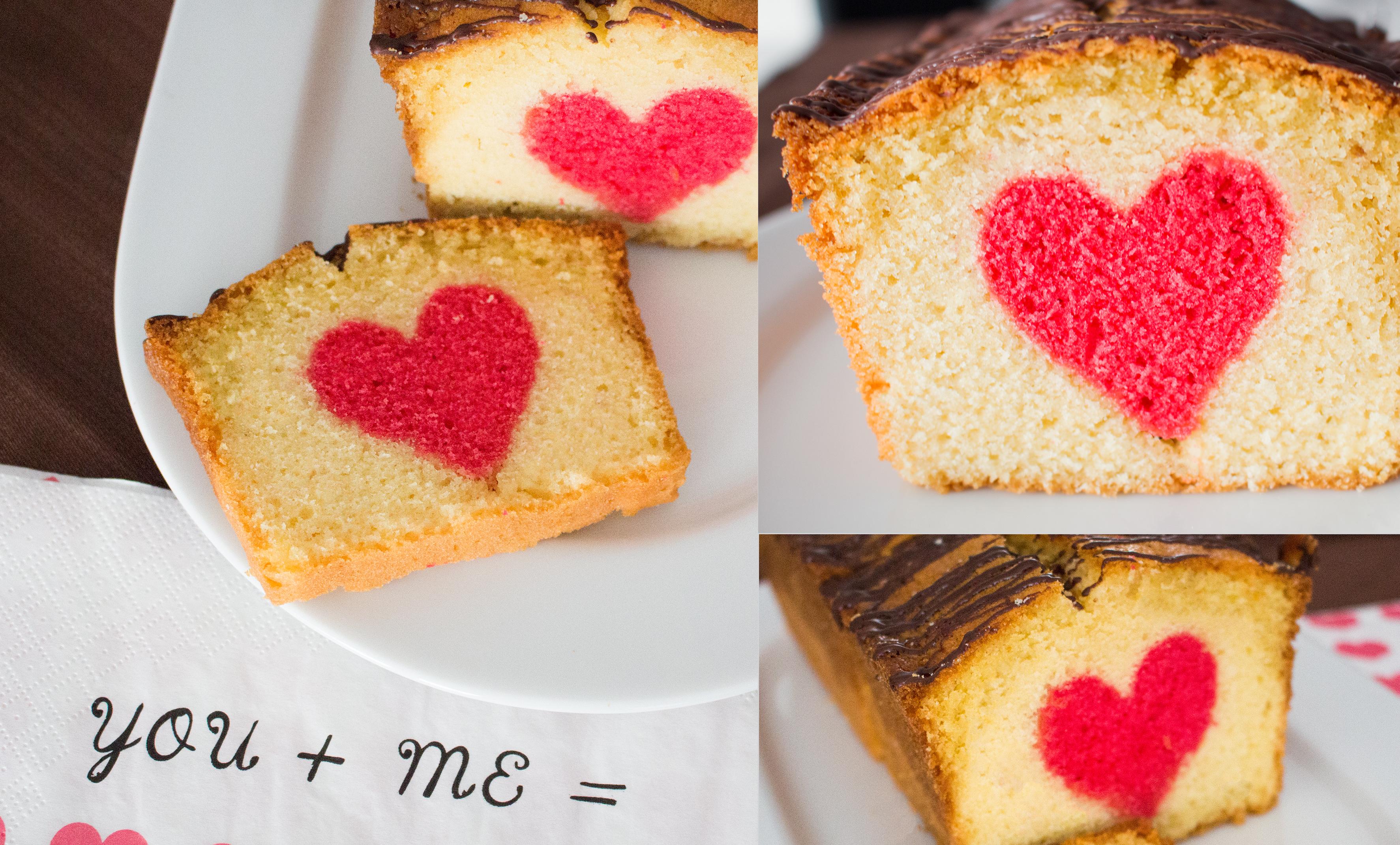 Valentinstag – ein Kuchen mit süßer Überraschung
