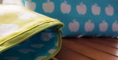 Kosmetiktasche Lilly im frischen Apfellook (Freebook)
