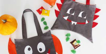 Halloween Monster-Bag nähen (Freebook)