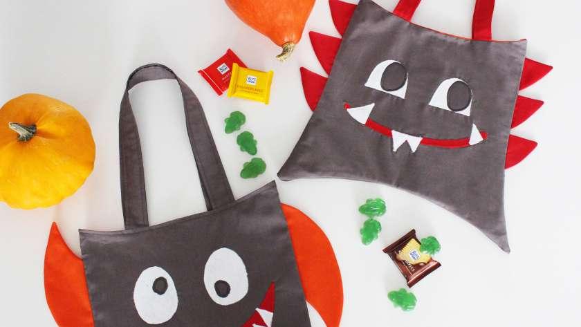 Halloween Monster-Bag nähen (Freebook)