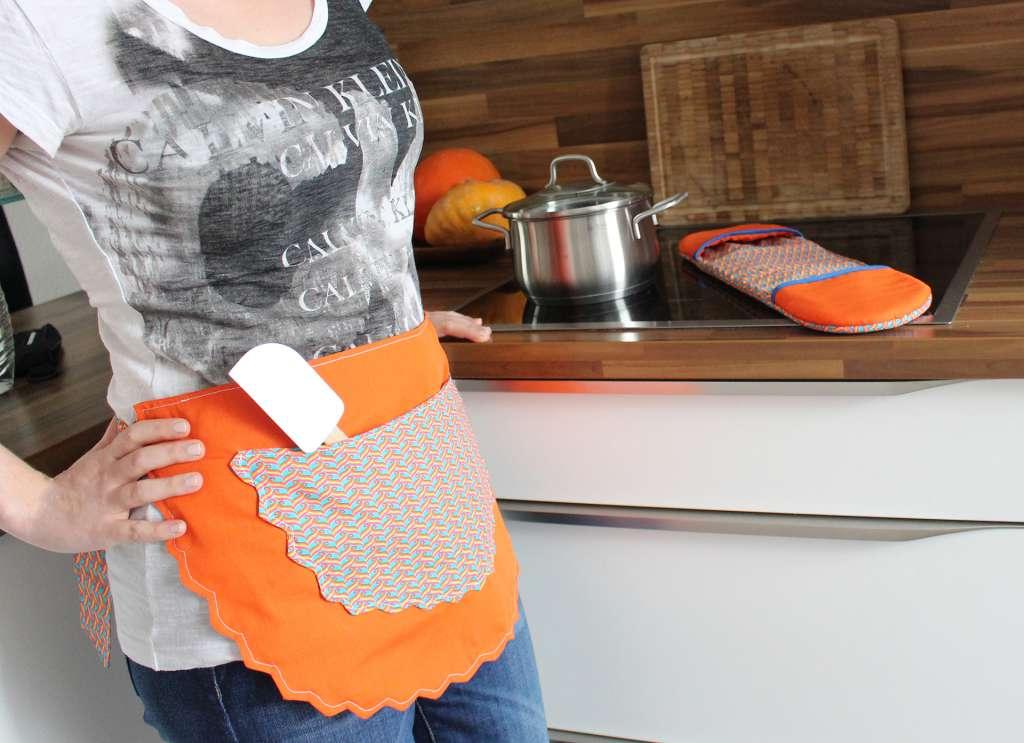 Tutorial Küchenschürze und Ofenhandschuhe