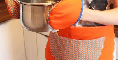 Tutorial – Topfhandschuhe und Küchenschürze