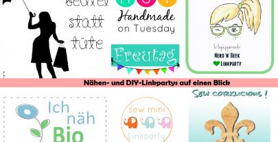 Linkpartys zum Thema Nähen und DIY – Übersicht