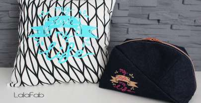 "Plott ""My style my life"" –  Freebie Kosmetiktasche Geo-Bag"