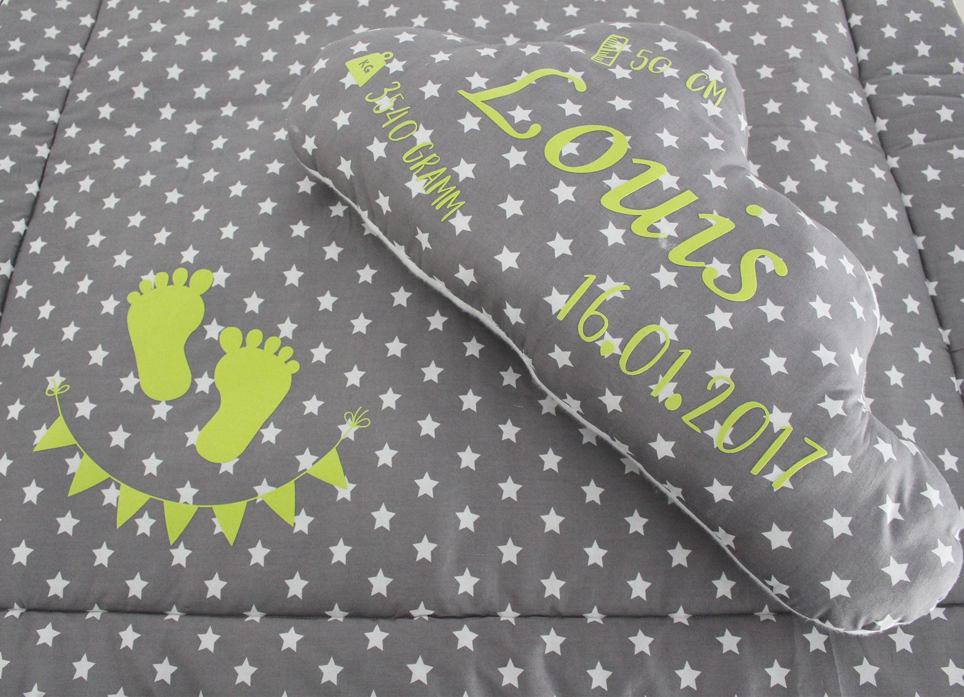 Babyset – Wolkenkissen und Deckchen