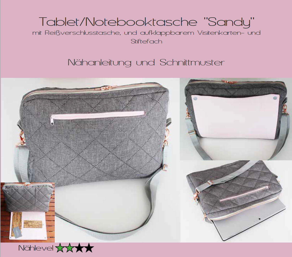 E-Book Tablet-/Notebooktasche Sandy