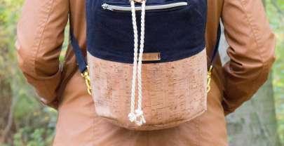 Bucket Bag aus Korkstoff – 3 Tragevarianten