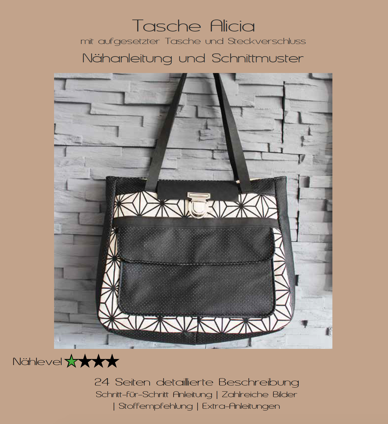 Neues Schnittmuster – Tasche Alicia