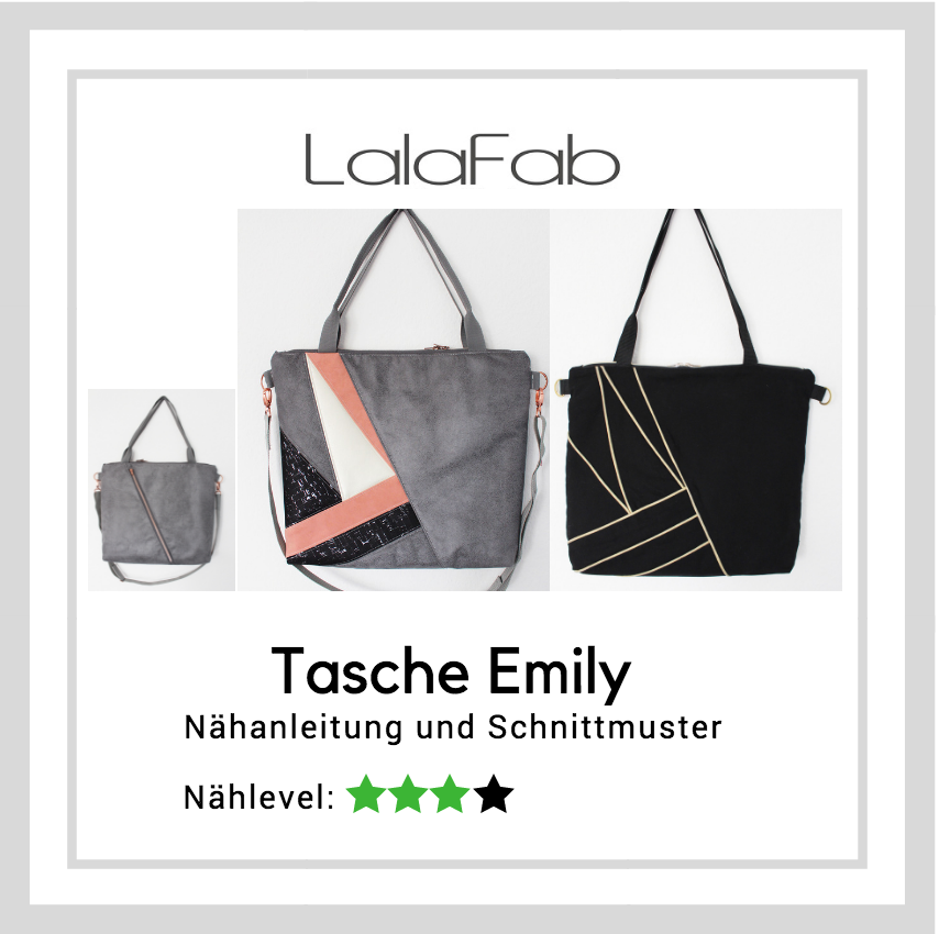 Neues Schnittmuster – Tasche Emily